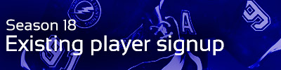 Existing Player Sign Up