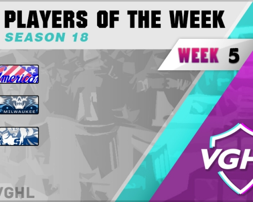 VGAHL S18 Players Of the Week 5