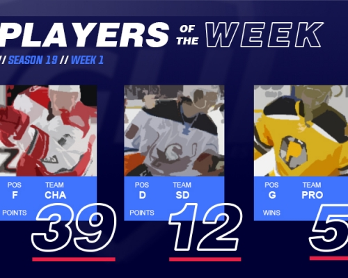 VGAHL S19 Players of the Week 1