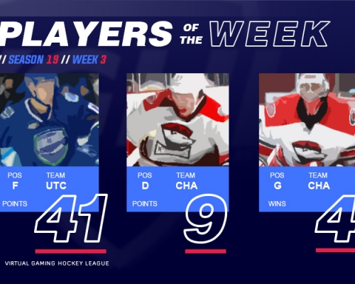 VGAHL S19 Players of the Week 3
