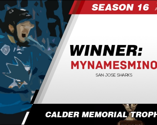 Season 16 Calder Memorial Trophy Winner