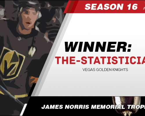 Season 16 James Norris Memorial Trophy Winner