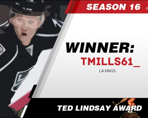 Season 16 Ted Lindsay Award Winner