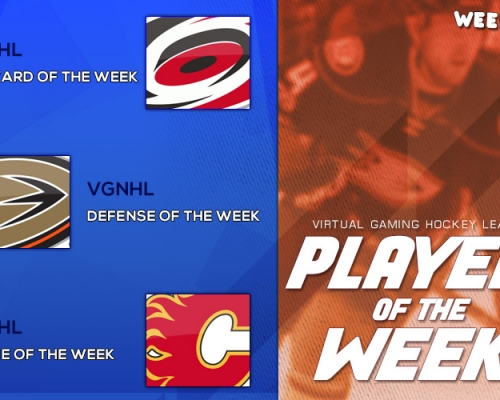 VGHL Players Of the Week 7 & 8