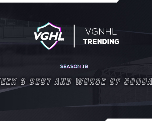 VGNHL TRENDING:  Week 3 Best and Worst of Sunday