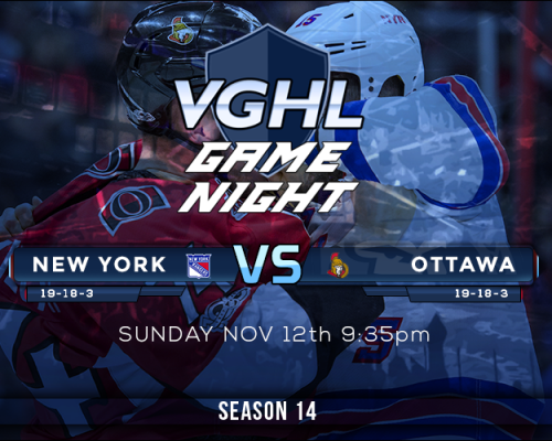 VGNHL Game Night Sunday