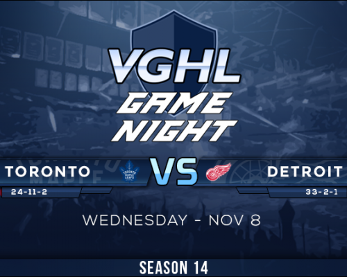 Wednesday Game Night: Toronto VS Detroit