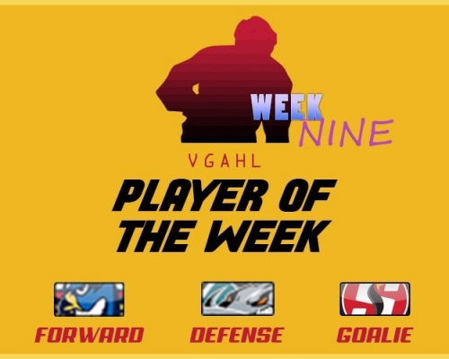 VGAHL Players of the Week - Week 9