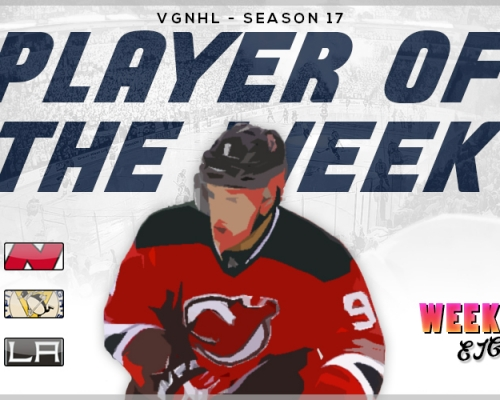 VGNHL Players of the Week - Week 8