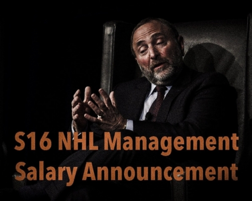S16 NHL Management Salary Announcement