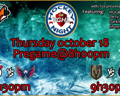 Hockey night in VGHL is back !