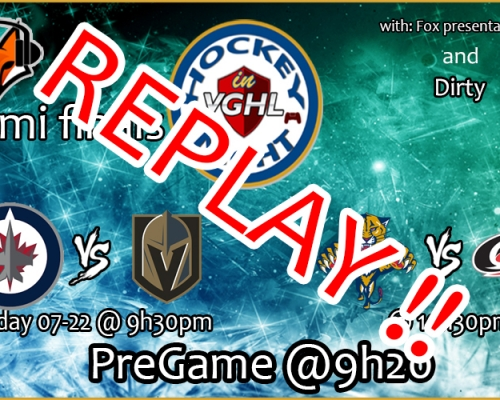 Replay Semifinals Hockey night in VGHL