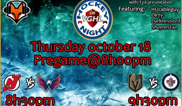 Hockey night in VGHL is back !